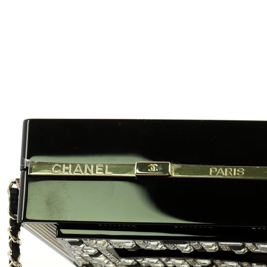 Chanel Minaudiere Plexiglass black and brown Clutch Image 5