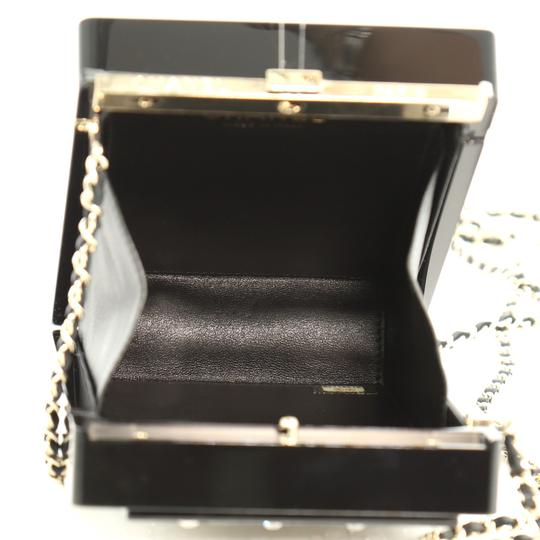 Chanel Minaudiere Plexiglass black and brown Clutch Image 6