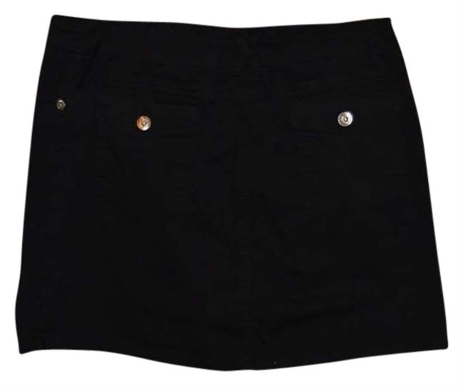 Other Cotton/spandex Mini Stretchy Fabric Size 10p 5-pockets Mini Skirt Black