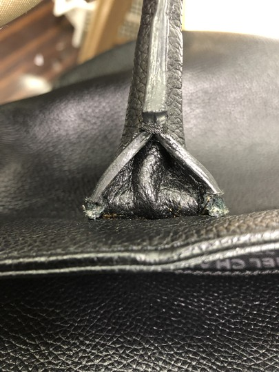 Chanel Leather Tote in Black Image 9