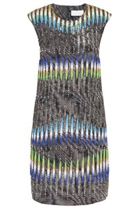 Peter Pilotto Runway Embellished Beaded Mini Dress