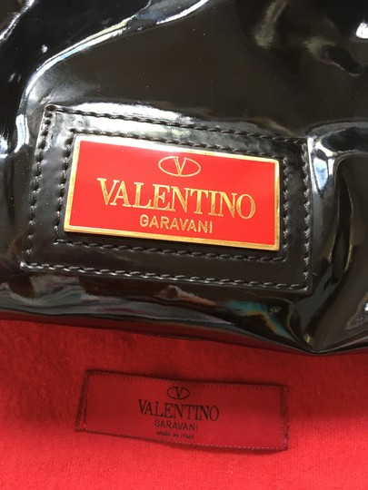 Valentino Leather Patent Bow Chic Elegant Hobo Bag Image 3