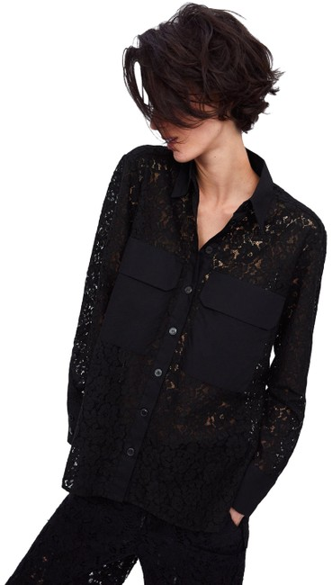 Preload https://img-static.tradesy.com/item/25872036/zara-black-xs-lace-shirt-with-pockets-button-down-top-size-2-xs-0-1-650-650.jpg