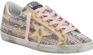 Golden Goose Deluxe Brand pink and gold Athletic