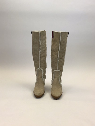 Gucci Light Tan, Red, Navy Boots Image 1