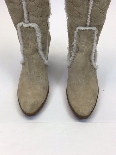 Gucci Light Tan, Red, Navy Boots Image 2