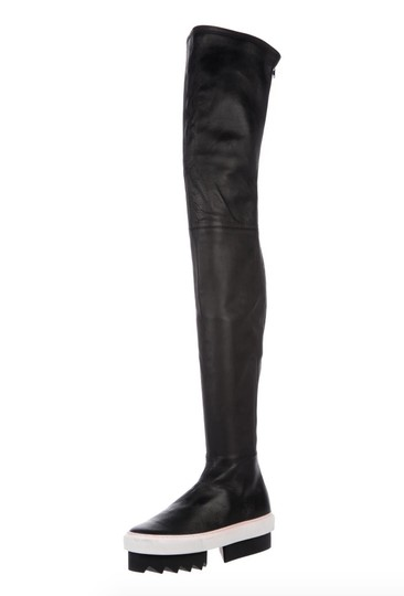 Givenchy Over The Knee Leather Black Boots Image 1