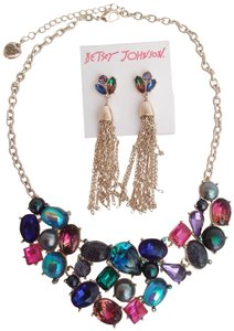 Betsey Johnson Betsey Johnson New Abstract Necklace & Earrings