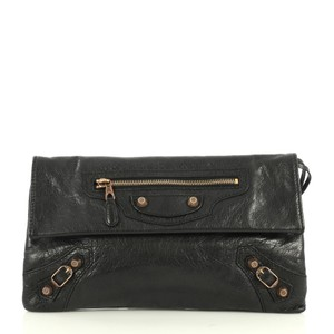 Balenciaga Envelope Clutch Wristlet in black