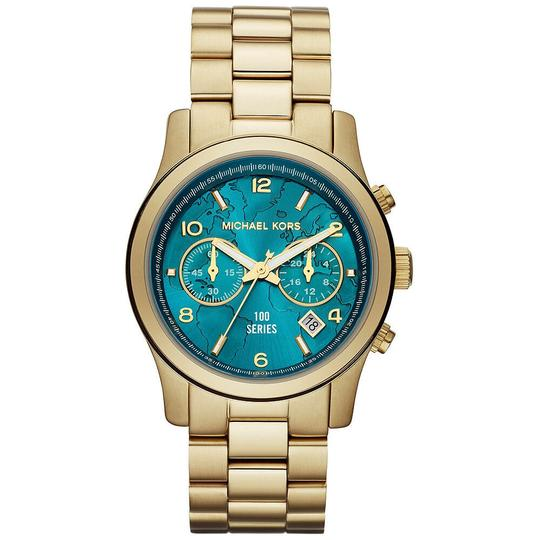Preload https://img-static.tradesy.com/item/25872279/michael-kors-gold-hunger-stop-100-series-turquoise-blue-mid-size-dial-mk5815-watch-0-0-540-540.jpg