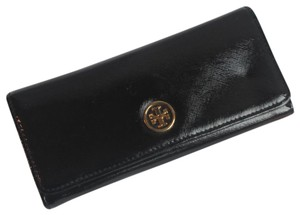 Tory Burch Tory Burch Black Envelope Robinson Continental Wallet