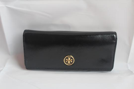 Tory Burch Tory Burch Black Envelope Robinson Continental Wallet Image 1