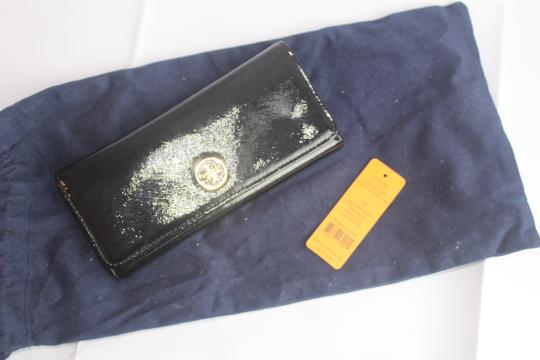 Tory Burch Tory Burch Black Envelope Robinson Continental Wallet Image 3