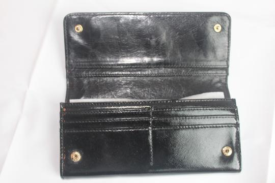 Tory Burch Tory Burch Black Envelope Robinson Continental Wallet Image 6
