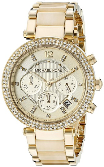 Michael Kors Parker Champagne Acetate Stainless Steel Chronograph MK5632 Image 4