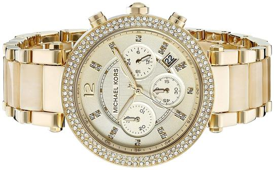 Michael Kors Parker Champagne Acetate Stainless Steel Chronograph MK5632 Image 5
