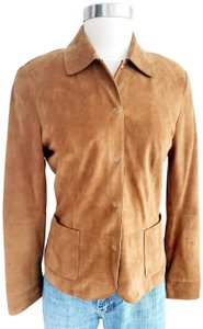 Harold's Casual Suede Two-tone Tan Leather Jacket
