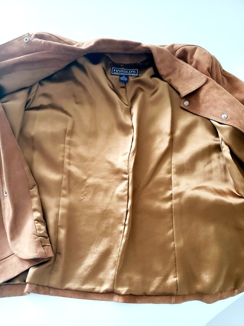 Harold's Casual Suede Two-tone Tan Leather Jacket Image 1