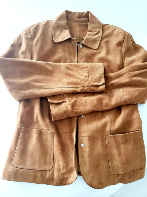 Harold's Casual Suede Two-tone Tan Leather Jacket Image 3