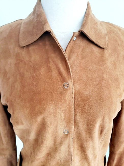 Harold's Casual Suede Two-tone Tan Leather Jacket Image 4