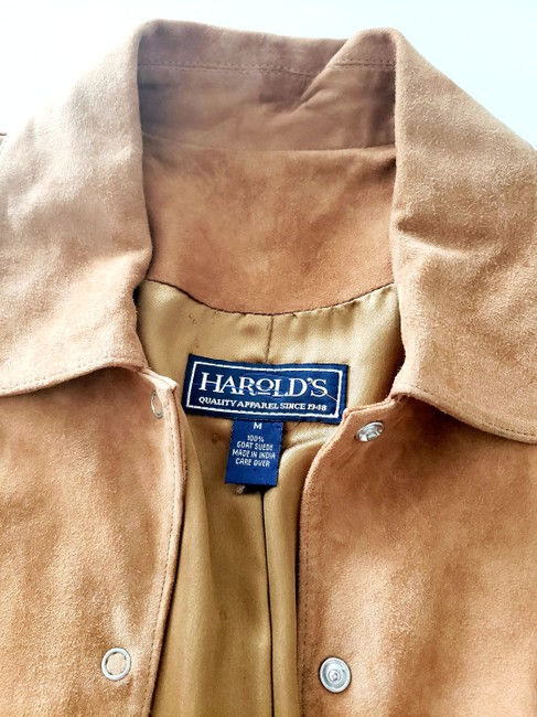 Harold's Casual Suede Two-tone Tan Leather Jacket Image 5