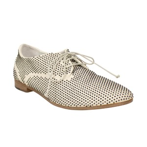 Marsèll Leather Distressed Round Toe Calfskin White Flats