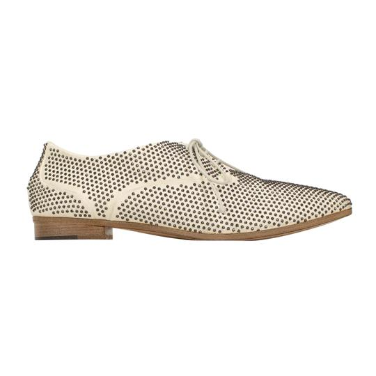 Marsèll Leather Distressed Round Toe Calfskin White Flats Image 2