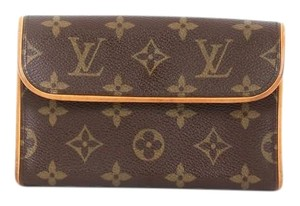 Louis Vuitton Canvas Brown Clutch