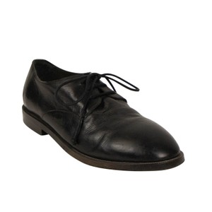Marsèll Leather Distressed Round Toe Calfskin Black Flats