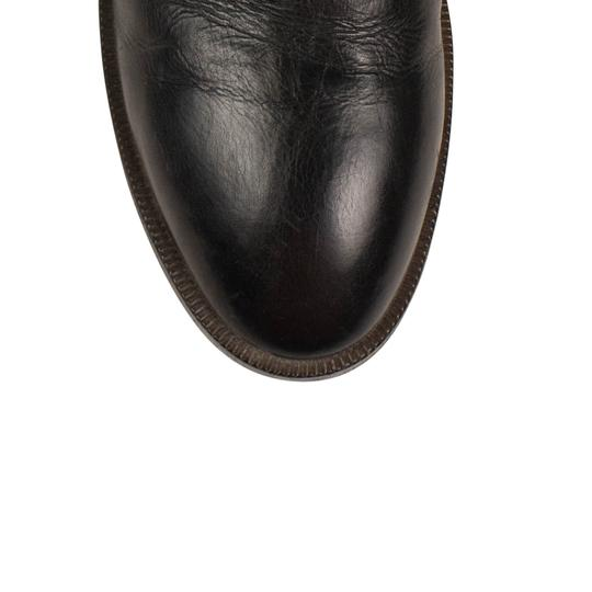 Marsèll Leather Distressed Round Toe Calfskin Black Flats Image 4
