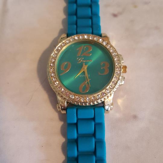Other Silicone Crystal Bling Watch Blue Image 3