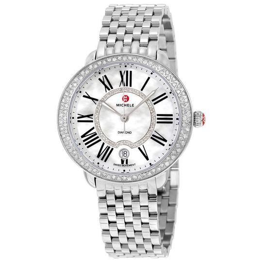 Michele Serein 16 Mid Stainless Mother Of Pearl Diamond Dial MWW21B000030 Image 1