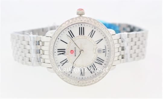Michele Serein 16 Mid Stainless Mother Of Pearl Diamond Dial MWW21B000030 Image 10