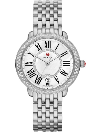 Michele Serein 16 Mid Stainless Mother Of Pearl Diamond Dial MWW21B000030 Image 8