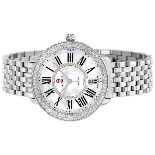 Michele Serein 16 Mid Stainless Mother Of Pearl Diamond Dial MWW21B000030 Image 9