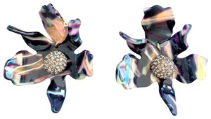 Lele Sadoughi LELE SADOUGHI Crystal Lily Clip On Earrings Twilight