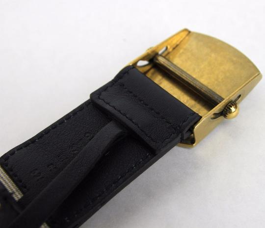 Gucci New Gucci Fabric Belt Anchor Brass Buckle 95/38 375191 4056 Image 3