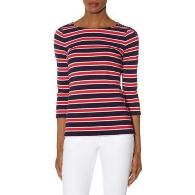 Preload https://item2.tradesy.com/images/the-limited-red-striped-zip-shoulder-navy-tee-shirt-size-2-xs-25872531-0-2.jpg?width=400&height=650