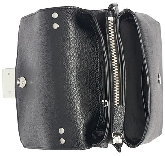 Calvin Klein Collection Leather Apparel Group Inside Zip Cross Body Bag Image 3