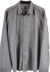 Hugo Boss Button Down Shirt Gray