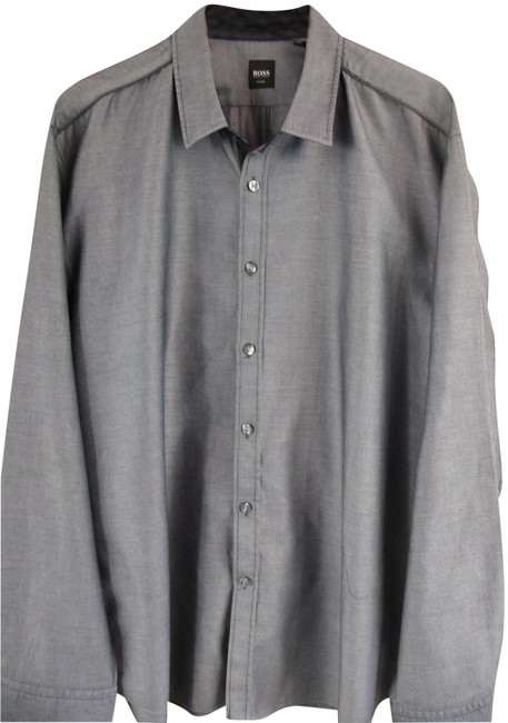 Preload https://img-static.tradesy.com/item/25872590/hugo-boss-gray-men-s-cotton-long-shirt-xxl-button-down-top-size-18-xl-plus-0x-0-1-650-650.jpg