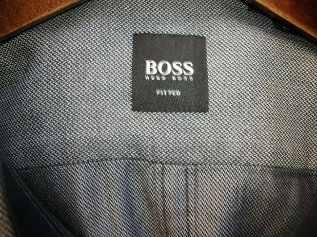 Hugo Boss Button Down Shirt Gray Image 3