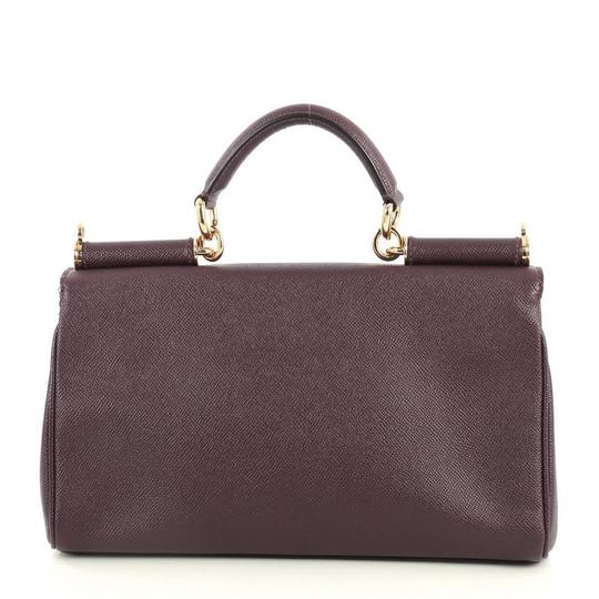 Dolce&Gabbana Dolce & Gabbana Miss Sicily Leather Satchel in Purple Image 2