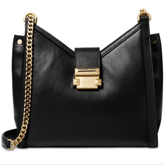 Preload https://item2.tradesy.com/images/michael-michael-kors-whitney-polished-chain-tote-black-leather-shoulder-bag-25872601-0-3.jpg?width=440&height=440
