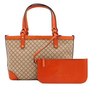 Gucci Craft Diamante Tote in Beige/ Orange