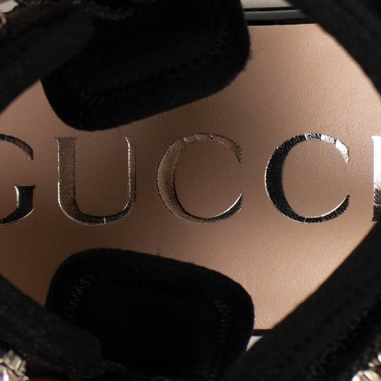 Gucci Leather Crystal Open Toe Summer Black Sandals Image 6