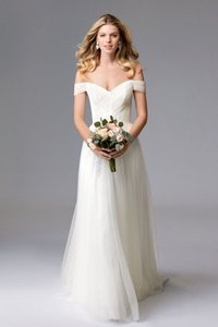 Wtoo Ivory Tulle Heaton 17757 Feminine Wedding Dress Size 12 (L)