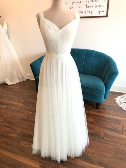 Wtoo Ivory Tulle Heaton 17757 Feminine Wedding Dress Size 12 (L) Image 2