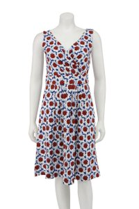 Lands' End short dress Multi-Color Red White Blue Floral Wrap on Tradesy