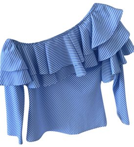 Mix And Match Boutique Top white and blue